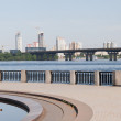 Stock Photo: Kiev cityscape and Dnieper river, Ukraine