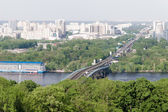 Kiev cityscape and Dnieper river, Ukraine — Stock Photo
