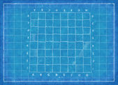 Chess board - Blue Print — Stock Photo
