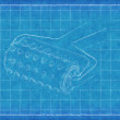 Stock Photo: Plastic tumbler - Blue Print