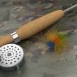 Stock Photo: Fly-Fishing Set