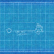 Stock Photo: Toy truck - Blue Print