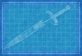 Ancient sward - Blue Print — Stock Photo