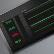 Electronic Timetable — Stock Photo