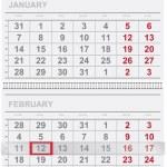 Calendar design — Stock Vector
