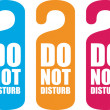 Do not disturb door hanger — Stock Vector