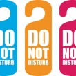 Stock Vector: Do not disturb door hanger