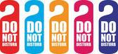 Do not disturb door hanger — Stock Vector