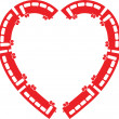 Heart Train vector illustration — Stock Vector