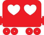 Heart Train vector illustration — Stock Vector