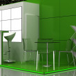 Exhibition Stand Interior - Exterior Sample — Foto de Stock