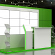Exhibition Stand Interior - Exterior Sample — Stock Photo