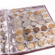 Coin album with world coins — Stock Photo #45526663