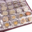Coin album with world coins — Stock Photo #47014051