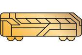 Ilustración abstracta signo creativo — Vector de stock