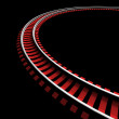 Single curved railroad track — Stock Photo #50511737