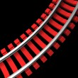 Single curved railroad track — Stock Photo #50511755