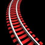 Single curved railroad track — Stock Photo #50572911