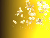 Shiny Stars Particles on smooth background — Stock Photo