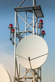 Satellite antenna on roof — Foto de Stock