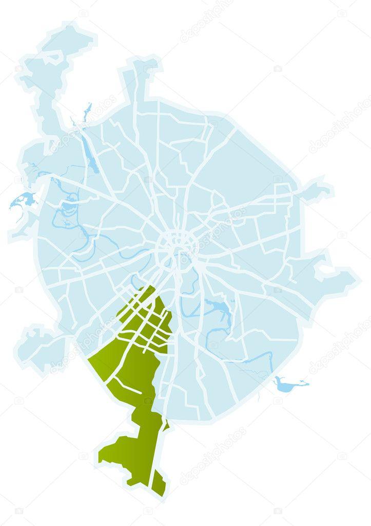 векторная карта москвы - фото 7
