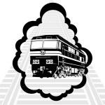 Modern locomotive — Stock Vector #12661674