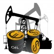 Stock Vector: Sale of petroleum products