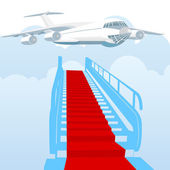 Gangway covered — Stock Vector
