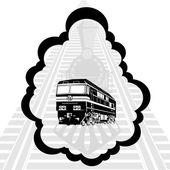 Schienenverkehr — Stockvektor