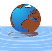 El globo en el agua — Vector de stock