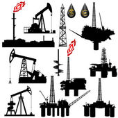 Facilities for oil production — Stockvector