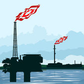 天然气工业 — 图库矢量图片