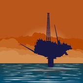 Oil platform — Stock Vector