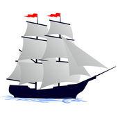 Old sailing ship — Stock Vector