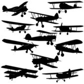 Vintage aircraft — Stock Vector