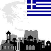 Architektura Grecji — Wektor stockowy