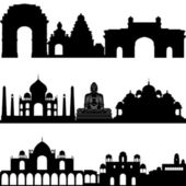 Indian architecture — Stock Vector