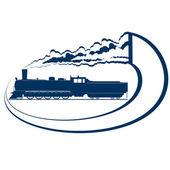 Locomotiva-11 — Vettoriale Stock