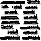 Old locomotives — Vector de stock