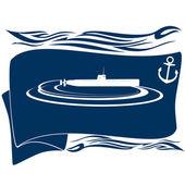 подводная лодка-4 — Cтоковый вектор