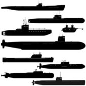 Submarines — Stock Vector
