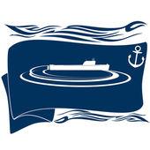 подводная лодка-7 — Cтоковый вектор