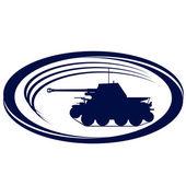 Antiguo tanque-5 — Vector de stock
