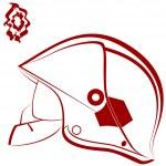 Fireman helmet — Stock Vector