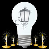 Lâmpada elétrica — Vetorial Stock