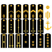 Shoulder straps of the Navy of the Russian Army — Stock Vector
