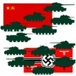 Great Patriotic War tanks — Stock Vector