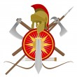 Stock Vector: Weapon of gladiator