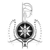 Brazos del gladiator — Vector de stock