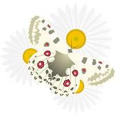 Butterfly on a flower-7 — Vettoriale Stock